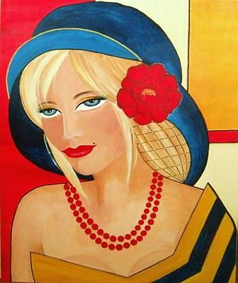 Portraits Painting - Aurora by Camelia Apostol