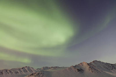 Auroras Over Mountains Art Print by Tim Grams
