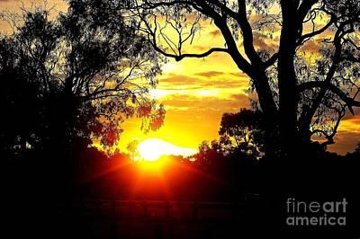 Print featuring the photograph Aussie Sunset by Blair Stuart