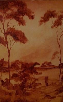 Paul Morgan Painting - Australia  by Paul Morgan