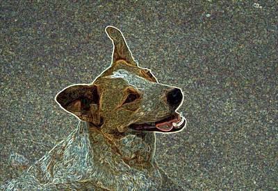 Australian Cattle Dog Mix Art Print by One Rude Dawg Orcutt