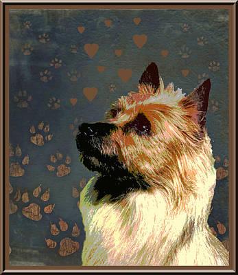 Australian Terrier Print by One Rude Dawg Orcutt