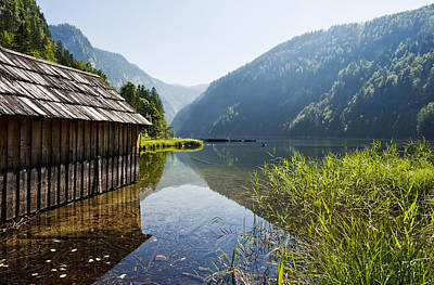 Y120831 Photograph - Austria, Styria, View Of Lake Toplitzsee by Westend61