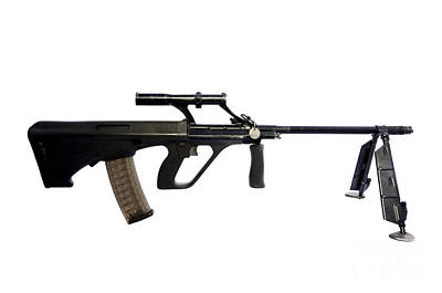 Austrian 5.56mm Steyr Aug Light Support Art Print by Andrew Chittock