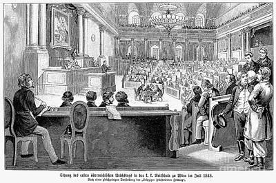 Austrian Assembly, 1848 Art Print