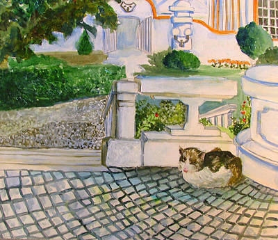 Austrian Cat Art Print by Mindy Newman