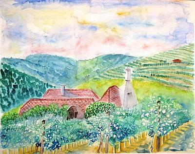 Austrian Vineyards Art Print