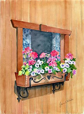 Austrian Window Art Print by Jean White