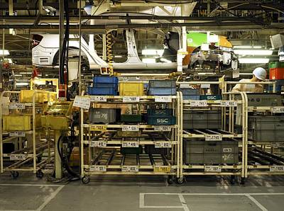 High Technology Devices Photograph - Auto Assembly Line At Toyota Prius by Justin Guariglia