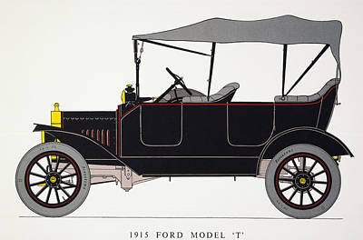 Photograph - Auto: Model T Ford, 1915 by Granger