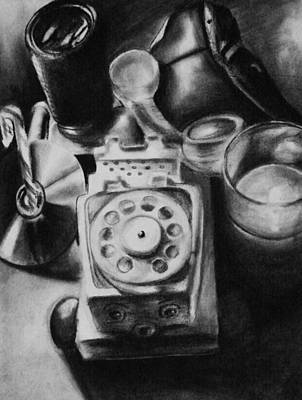 Still Life Drawings - Autobiographical Still Life by Molly Picklesimer