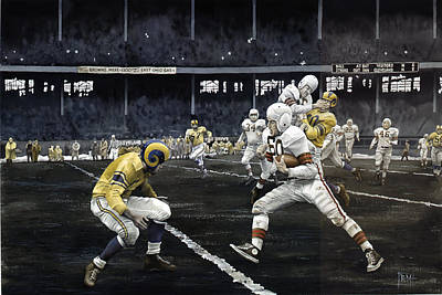 Cleveland Browns Football Painting - Automatic Otto by Rich Marks