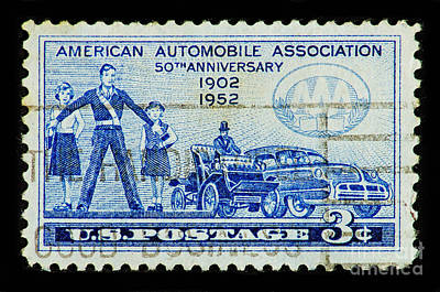 Art Print featuring the photograph Automobile Association Of America by Andy Prendy