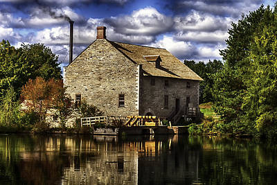 Autum At The Mill Art Print