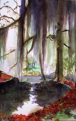 Painting - Autum Bayou by Richard Willows