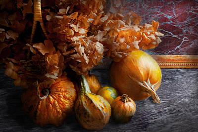 Autumn - Gourd - Still Life With Gourds Print by Mike Savad