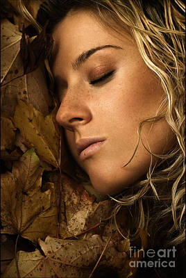Gold Earrings Photograph - Autumn 04 by Silvio Schoisswohl