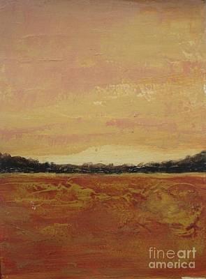 Earth Tones Painting - Autumn Dusk by Vesna Antic