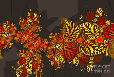 Digital Art - Autumn Abstract by Jutta Maria Pusl