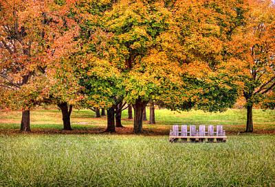 Autumn And A Bench Art Print