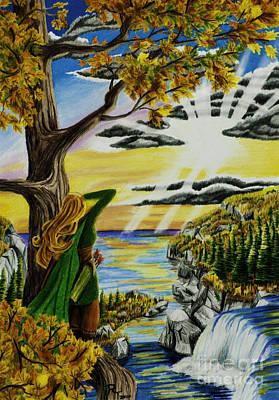 Autumn Archer Art Print by Robert Thornton