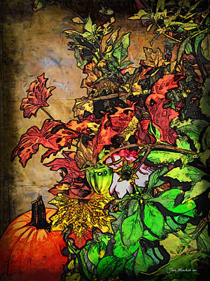 Photograph - Autumn Arrangement by Joan  Minchak