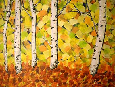Painting - Autumn Aspens by Cami Lee