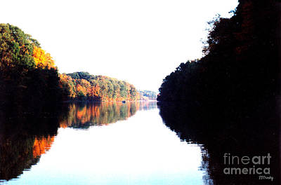 Autumn At Dusk From A Canoe Art Print