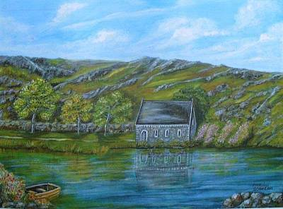 Gougane Barra Church Painting - Autumn At Gougane Barra by Marion Scanlon