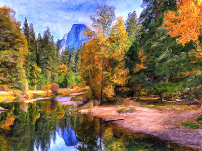 Yosemite Painting - Autumn At Yosemite by Dominic Piperata