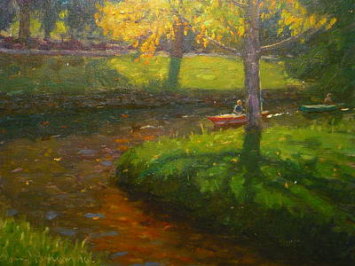 Painting - Autumn Avon 1996 by Terry Perham