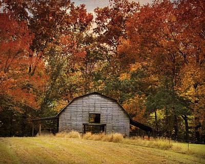 Photograph - Autumn Barn by Jai Johnson