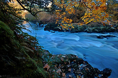 Photograph - Autumn Begins Along The River Conwy by Beverly Cash