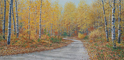 Autumn Birches Art Print by Jake Vandenbrink