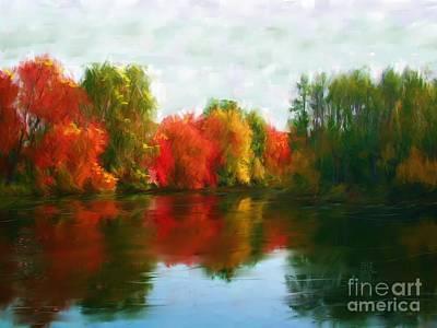 Autumn Blaze Art Print by Earl Jackson