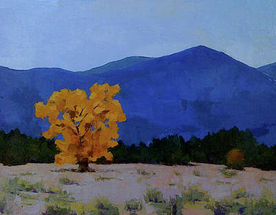 Painting - Autumn Blue by Sylvia Miller