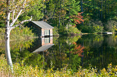 Photograph - Autumn Boat House by Paul Mangold