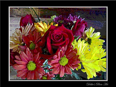 Art Print featuring the digital art Autumn Boquet by Debbie Portwood
