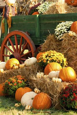 Autumn Bounty Vertical Art Print by Kathy Clark