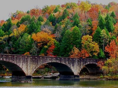 Autumn Bridge 2 Art Print