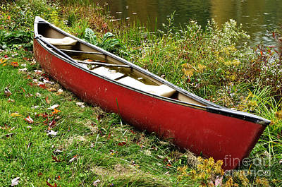 Beers On Tap - Autumn Canoe by Thomas R Fletcher