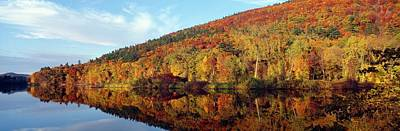 Vermont Wilderness Photograph - autumn Colors Along Connecticut River, Brattleboro, Vermont by VisionsofAmerica/Joe Sohm