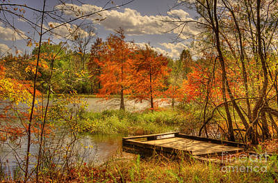 Photograph - Autumn Creek Pier by Cheryl Davis