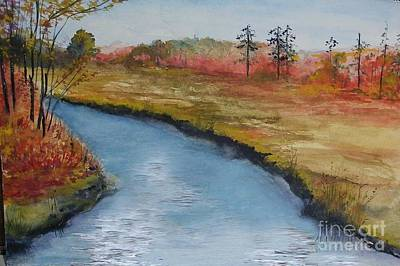 Painting - Autumn Creek by Sibby S