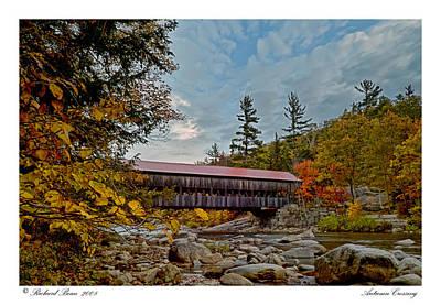 Art Print featuring the photograph Autumn Crossing by Richard Bean