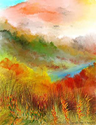 Digital Art - Autumn Daze by David Lane