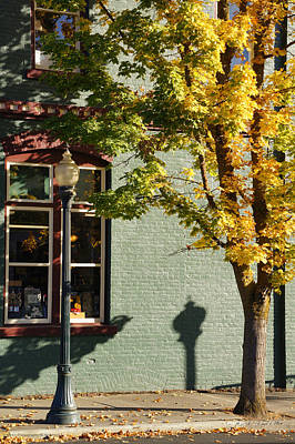 Art Print featuring the photograph Autumn Detail In Old Town Grants Pass by Mick Anderson
