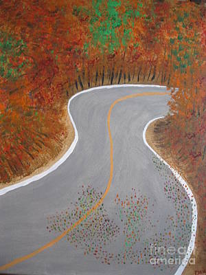 Scenic Drive Painting - Autumn Drive by Dawn Harrold