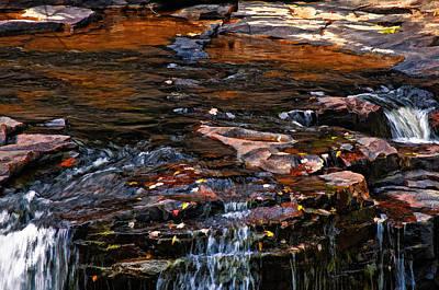 Ledge Photograph - Autumn Falls 2 by Steve Harrington