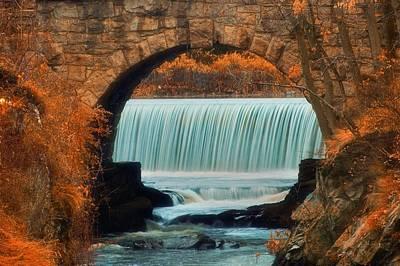 Connecticut Scenery Photograph - Autumn Falls by Joann Vitali